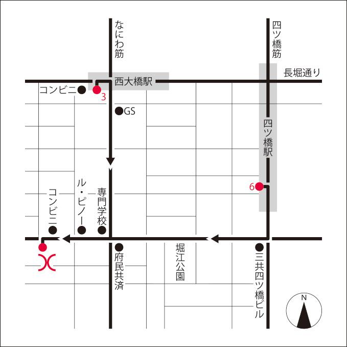 大阪ショールーム&ストア地図